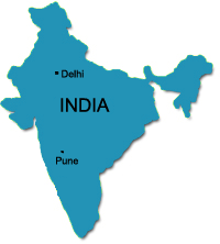 Delhi and Pune india