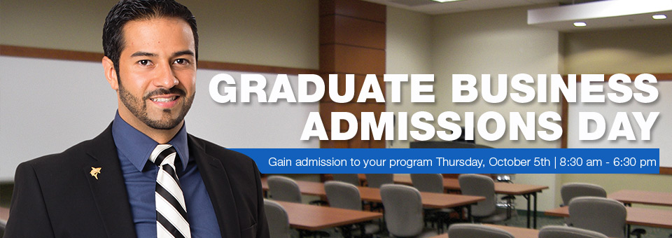 October 5th Graduate Business Admissions Day