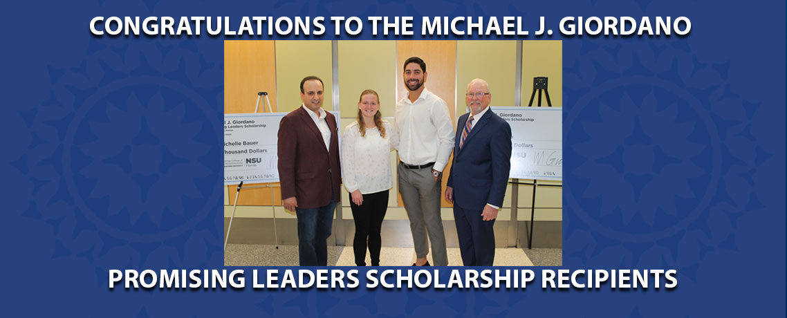 Michael J. Giordano Promising Leaders Scholarship