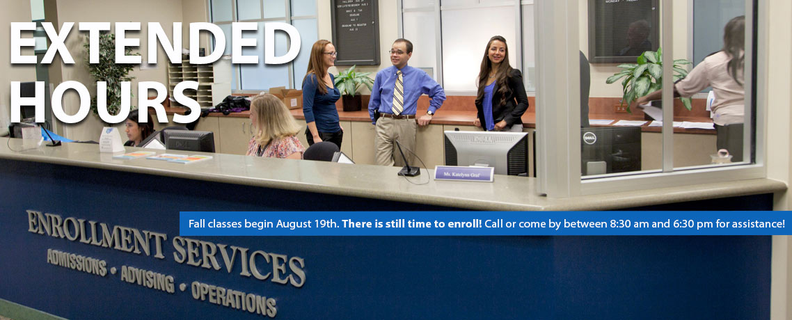 Extended Office Hours for Admissions and Advising