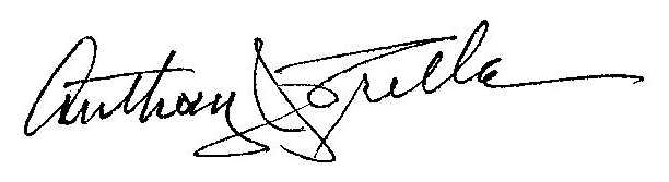 MS RED Advisory Board Member Joe Trella's signature