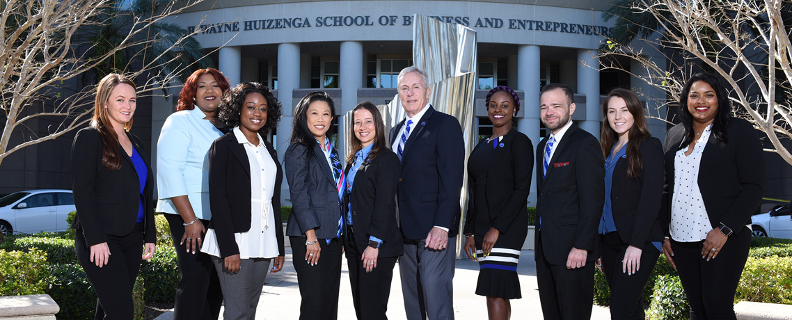 Huizenga College of Business Students